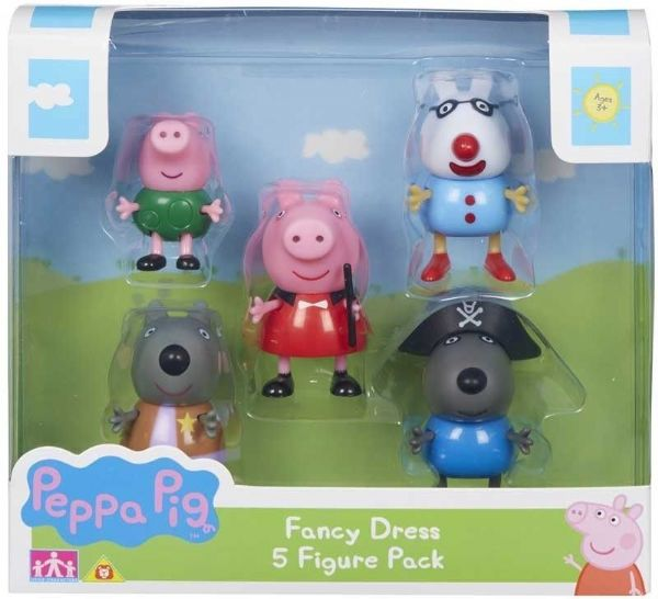 Peppa Pig Fancy Dress Figure Set 5 Toy Figures Peppa Pedro Wendy George Danny